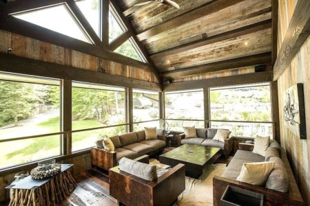 rustic farmhouse sunroom